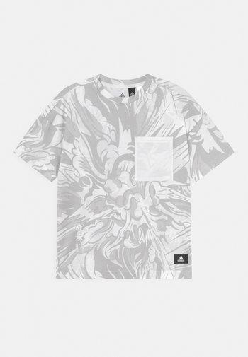 TEE UNISEX - Printtipaita - white