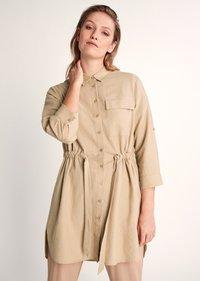 comma casual identity - Button-down blouse - sand - 0