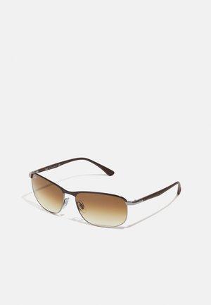 Sonnenbrille - brown on gunmetal