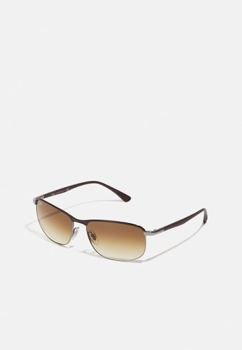 Sunglasses - brown on gunmetal