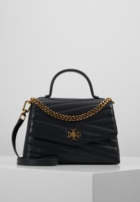 Tory Burch - KIRA CHEVRON TOP HANDLE SATCHEL - Torebka - black - 0