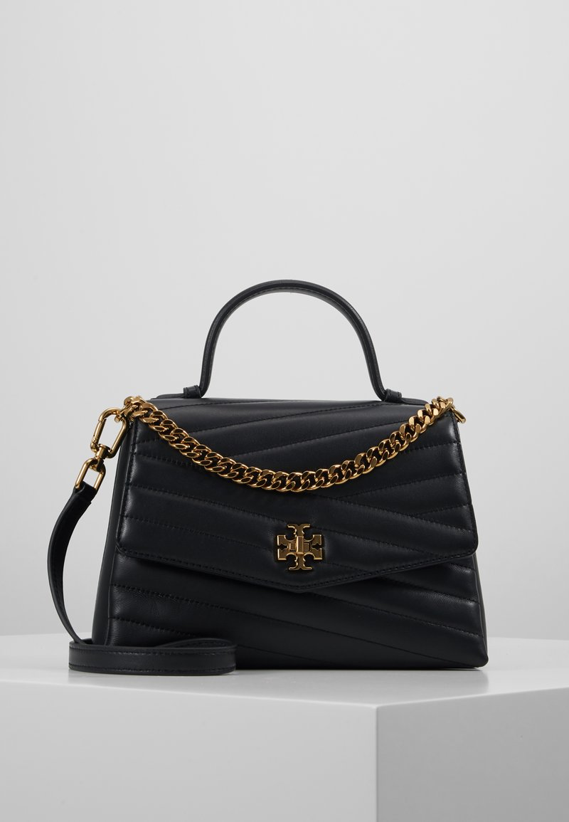 Tory Burch - KIRA CHEVRON TOP HANDLE SATCHEL - Torebka - black