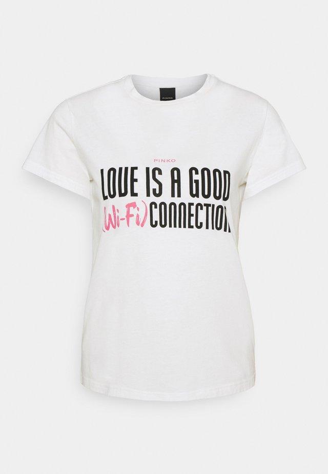 NEUTRALE - T-shirt imprimé - white