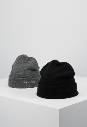 2PACK - Čepice - light grey/black