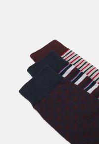 Jack & Jones - JACPORTER SOCKS 5 PACK - Ponožky - red dahlia/port royale/navy blazer - 2