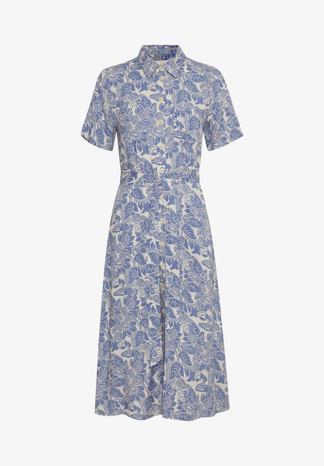 Sukienka koszulowa - colony blue, block print