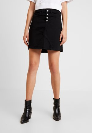 JDYLARA BUTTON SKIRT - Jupe trapèze - black