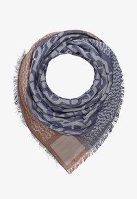 Aigner - Foulard - deep blue/bison braun - 1