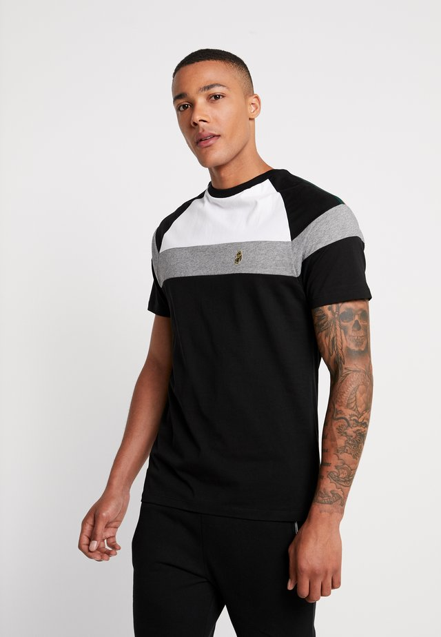 TEEDAM - T-shirt con stampa - jet black mix
