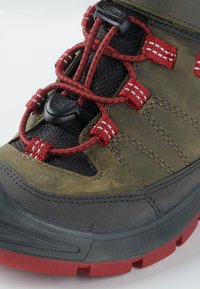 Keen - REDWOOD MID WP - Mountain shoes - steel grey/red dahlia - 5