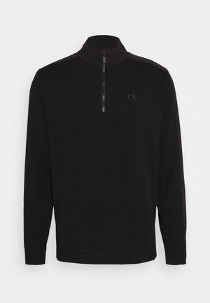 BRUCE HALF ZIP - Sweter - black
