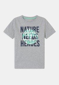 Timberland - SHORT SLEEVES - Print T-shirt - grey - 0