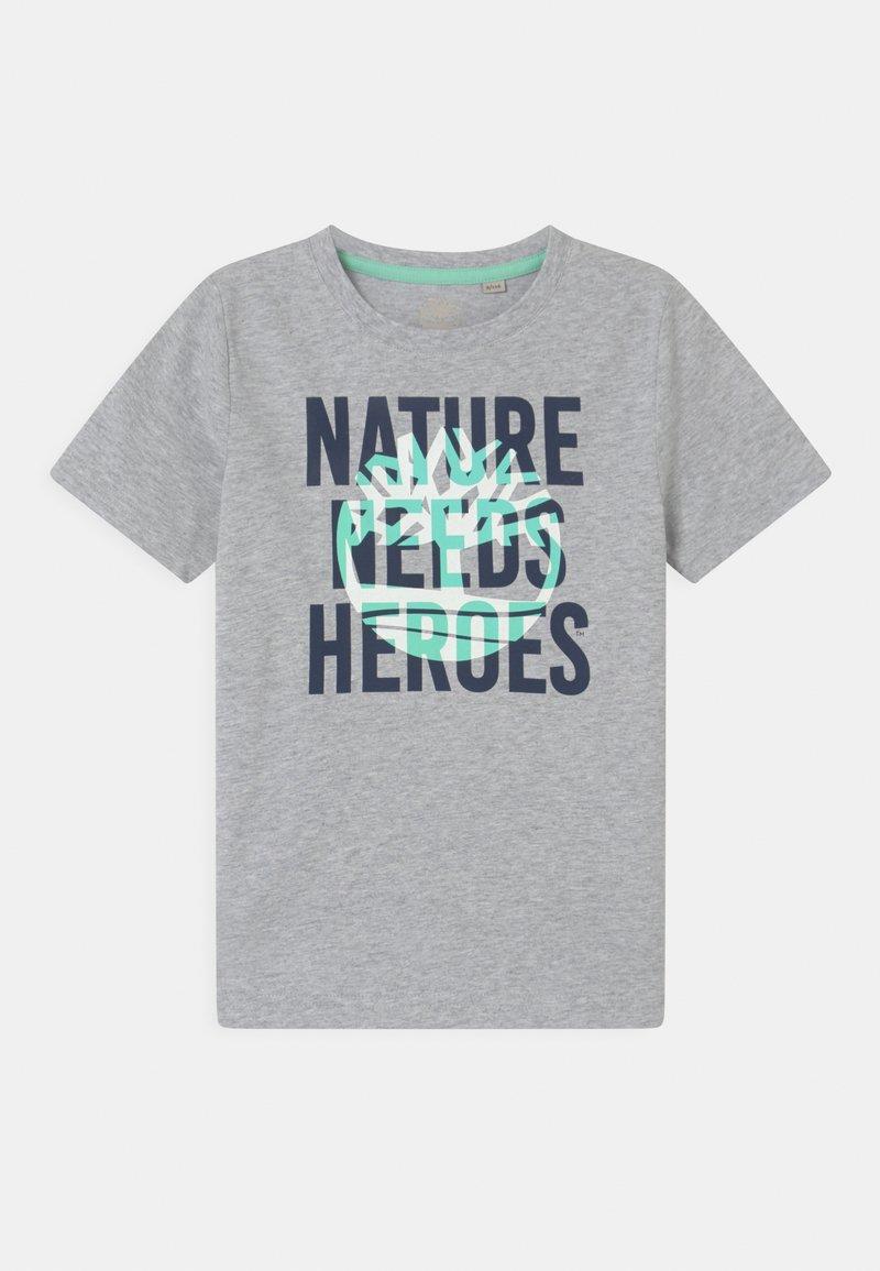 Timberland - SHORT SLEEVES - Print T-shirt - grey