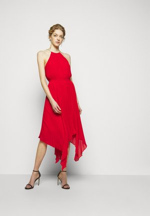 PLEATED HALTER  - Cocktail dress / Party dress - crimson
