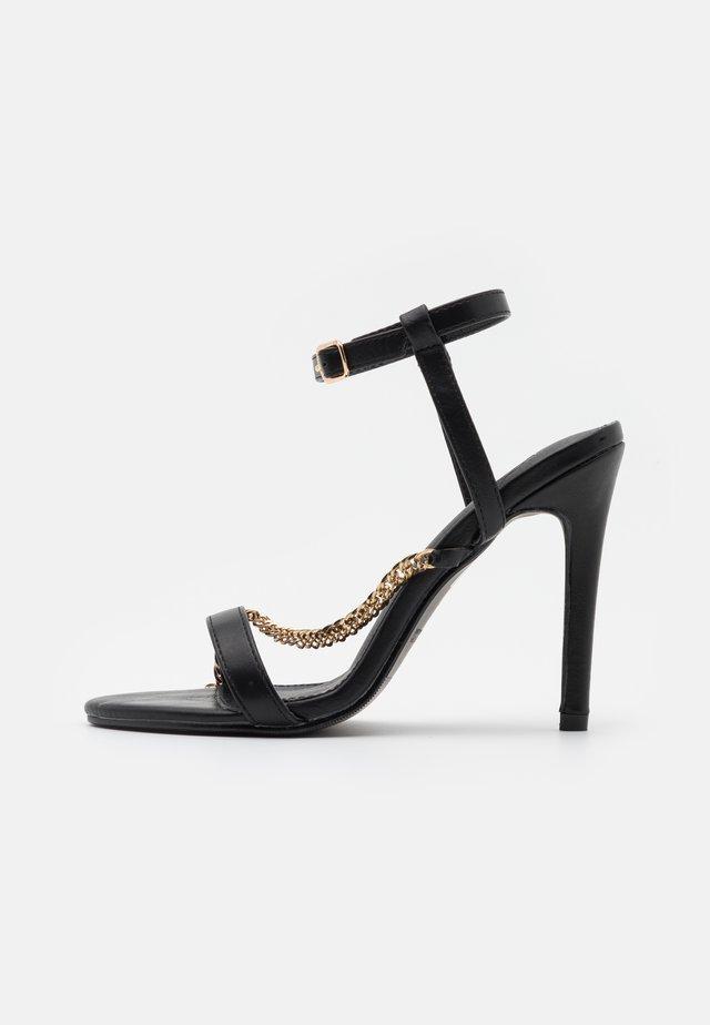 MAYA - Sandały na obcasie - black
