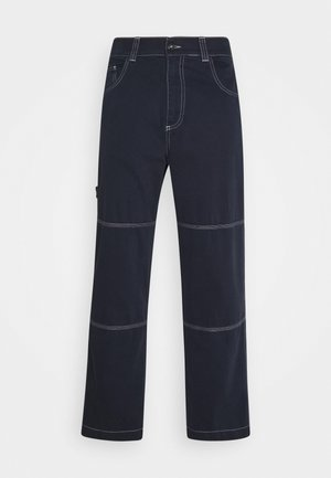 DRILL TROUSER WITH TOPSTITCH - Jeans baggy - navy
