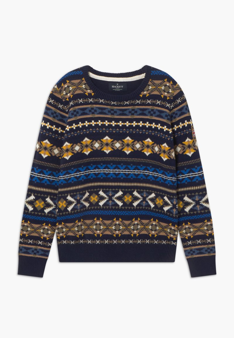 Hackett London - FAIRISLE CREW - Jumper - navy