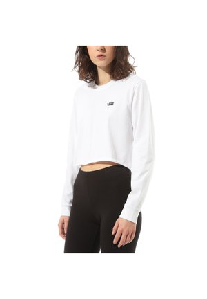 WM JUNIOR V LS CROP - Long sleeved top - white-black