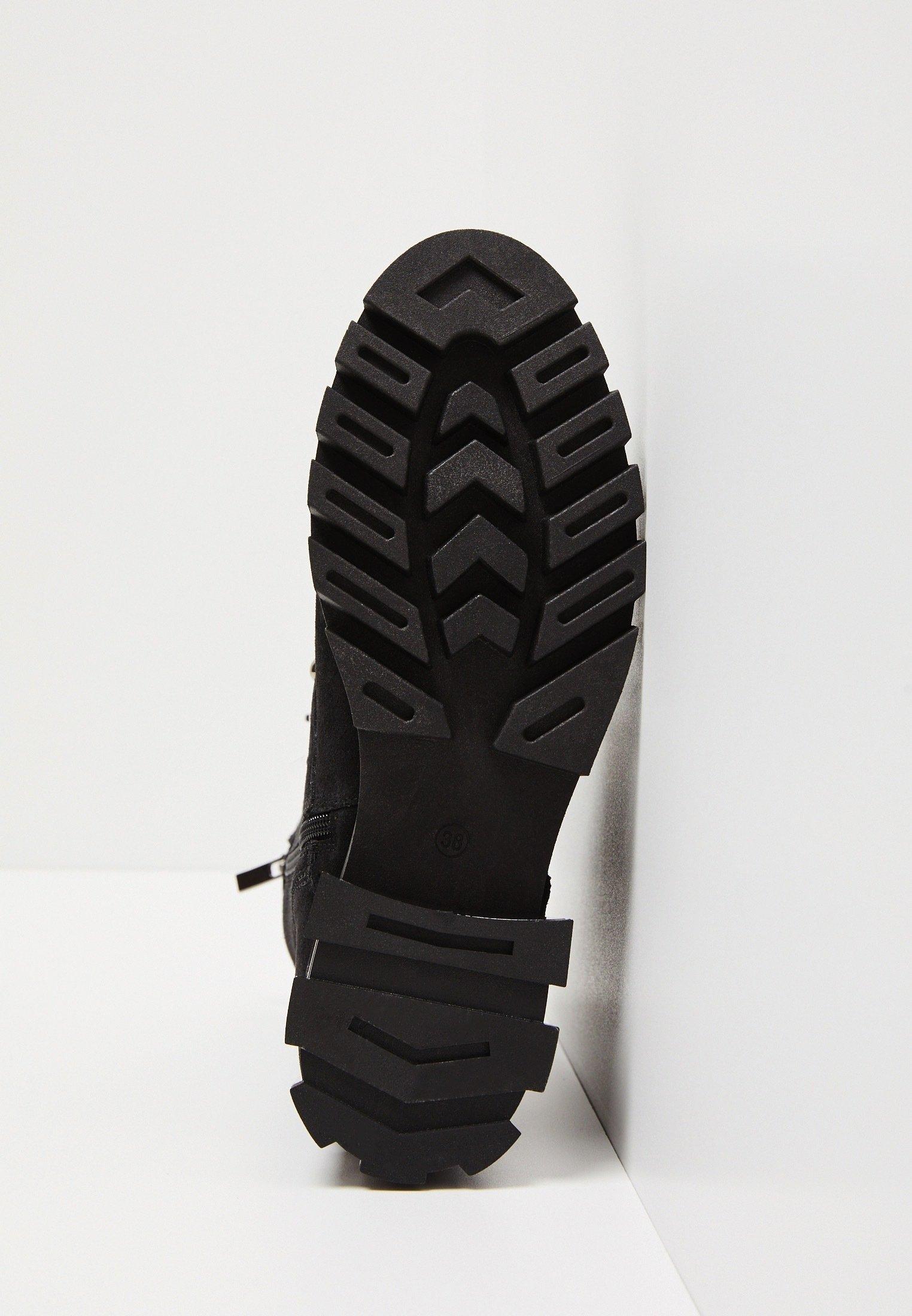 myMo Bottines à lacets - black - Bottes femme Haute qualité