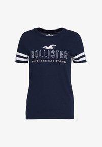 Hollister Co. - Print T-shirt - navy - 0