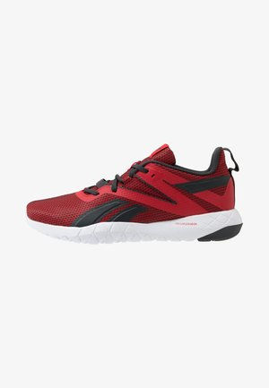 MEGA FLEXAGON - Sports shoes - red/grey/white