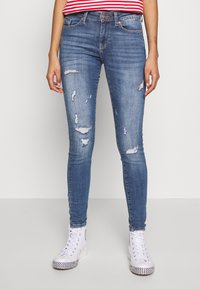 ONLY - ONLCARMEN LIFE  - Jeans Skinny Fit - medium blue denim - 0
