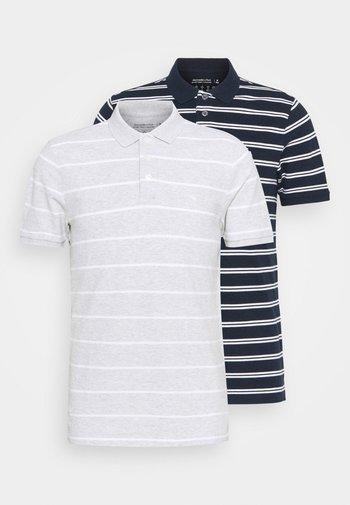 2 PACK - Polo shirt - navy/grey