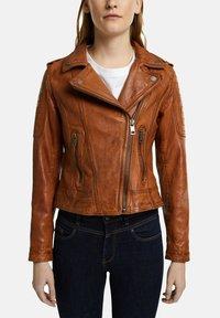Esprit - Leather jacket - toffee - 5