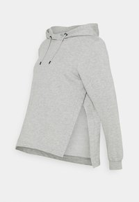 Anna Field MAMA - OVERSIZED HOODIE WITH POCKETS AND NURSING SIDE SLITS 2 PACK - Sweatshirt - black/light grey - 3