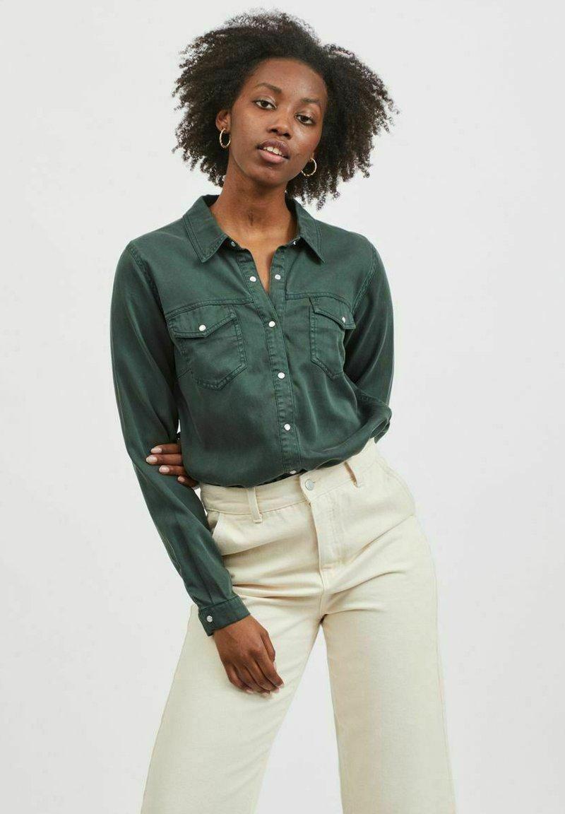 Vila - Button-down blouse - darkest spruce