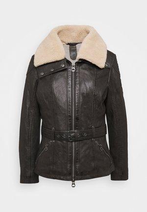 CYLIA LAMAS - Leather jacket - antra