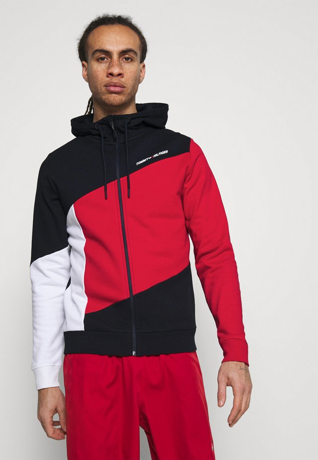 BLOCKED HOODY - veste en sweat zippée - blue