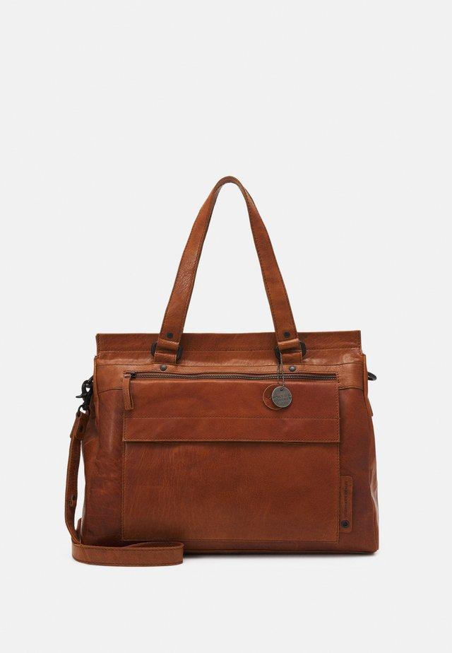 Shopping bag - brandy