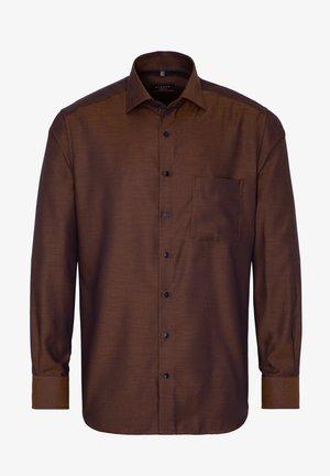 MODERN FIT BUSINESS LANGARM NEW KENT KRAGEN  - Zakelijk overhemd - braun