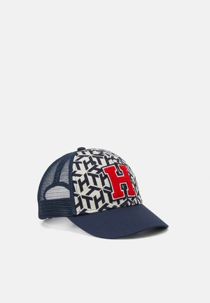 BOYS MONOGRAM PATCH TRUCKER - Caps - twilight navy / suagarcane