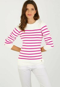Armor lux - PULL MARIN GROIX EN COTON - Jumper - white/neon pink - 0