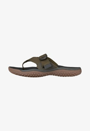 Pool slides - dark olive