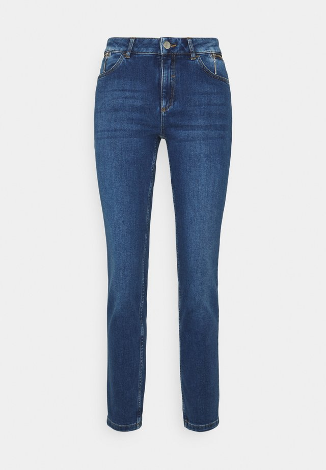 HOSE LANG - Slim fit jeans - dark blue