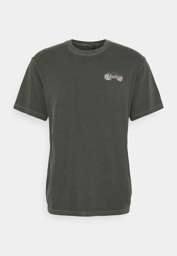 POWERLINES RETRO FIT TEE UNISEX - Print T-shirt - stone black