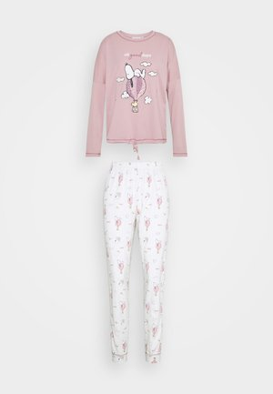 SNOOPY COTTAGE LONG BALLOON PJ SET - Pyjamas - dusty pink