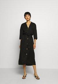 Twist & Tango - ALBA DRESS - Košilové šaty - washed black - 1