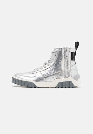 LE RUA S-RUA MC W SNEAKERS - High-top trainers - silver metallic