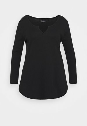 NOTCH FRONT - Long sleeved top - black