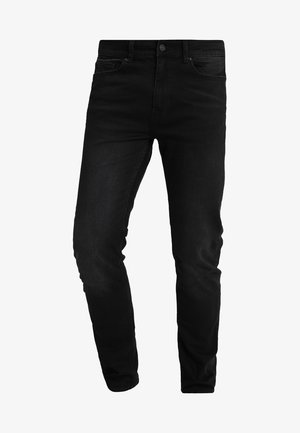 USED - Jeansy Slim Fit - black