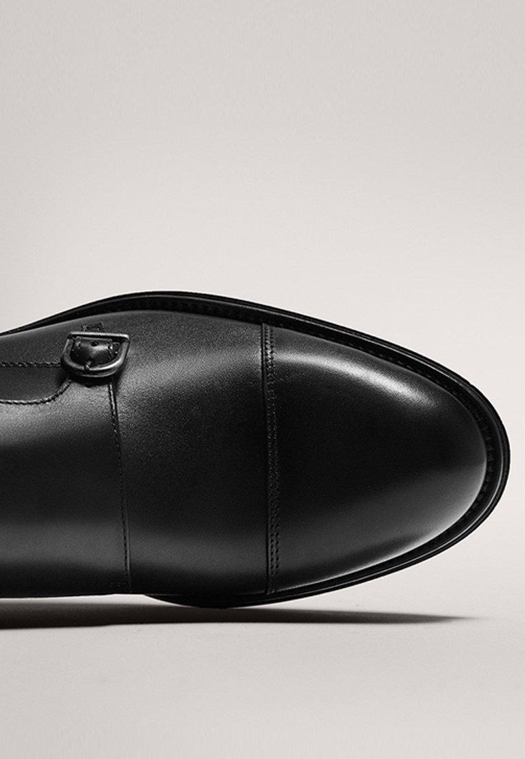 Massimo Dutti SCHWARZE MONK-SCHUHE 12250550 - Slip-ins - black/svart - Herrskor EaW8j