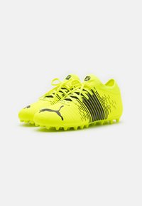 Puma - FUTURE Z 4.1 MG JR UNISEX - Moulded stud football boots - yellow alert/black/white - 1