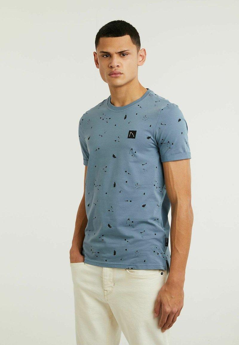 CHASIN' - LEO - Print T-shirt - blue