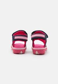 Kappa - Walking sandals - navy/pink - 2