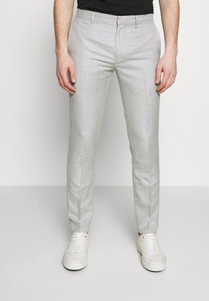 SUTTON TEXTURE PATTERN - Trousers - greymulti