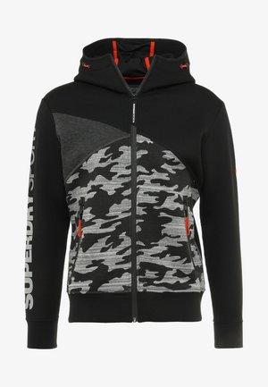 GYM TECH SPLICED ZIPHOOD - Zip-up hoodie - black/camo